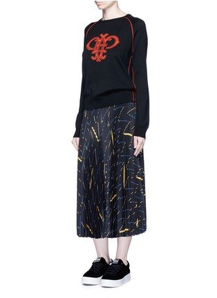Figure View - Click To Enlarge - Emilio Pucci - Monogram Merino wool sweater