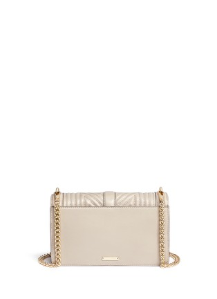 Back View - Click To Enlarge - Rebecca Minkoff - 'Geo' quilted leather Love crossbody bag