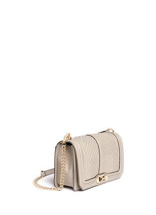Front View - Click To Enlarge - Rebecca Minkoff - 'Geo' quilted leather Love crossbody bag
