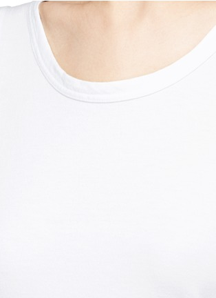 Detail View - Click To Enlarge - James Perse - Wrap back cotton tank top