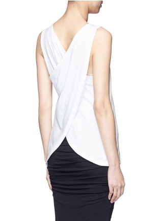 Back View - Click To Enlarge - James Perse - Wrap back cotton tank top