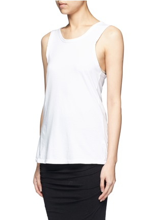 Front View - Click To Enlarge - James Perse - Wrap back cotton tank top