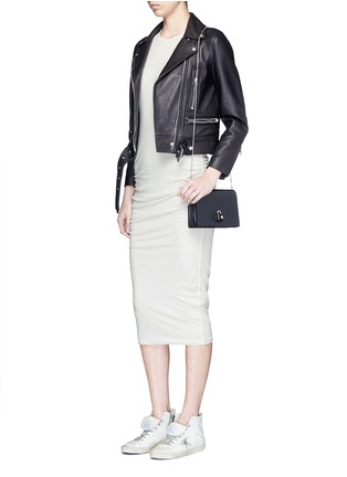Figure View - Click To Enlarge - JAMES PERSE - Ruche side jersey dress