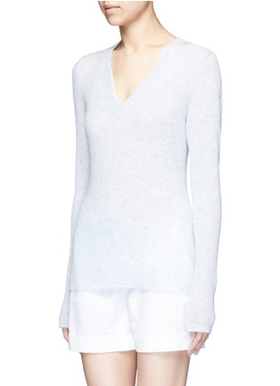 Front View - Click To Enlarge - James Perse - Deep V-neck cashmere sweater