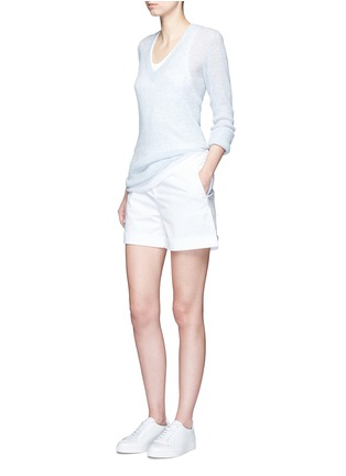Figure View - Click To Enlarge - James Perse - Deep V-neck cashmere sweater