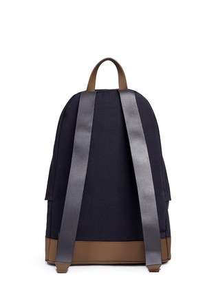 Back View - Click To Enlarge - Balenciaga - Leather trim colourblock canvas backpack