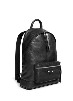 Front View - Click To Enlarge - Balenciaga - Matte lambskin leather backpack