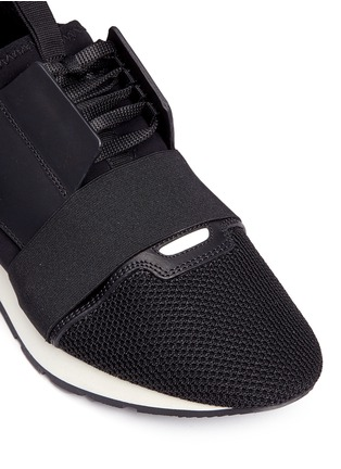 Detail View - Click To Enlarge - Balenciaga - 'Race Runners' leather neoprene sneakers