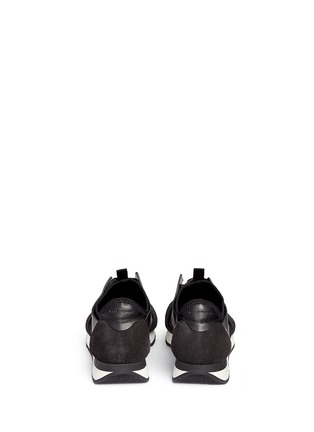Back View - Click To Enlarge - Balenciaga - 'Race Runners' leather neoprene sneakers