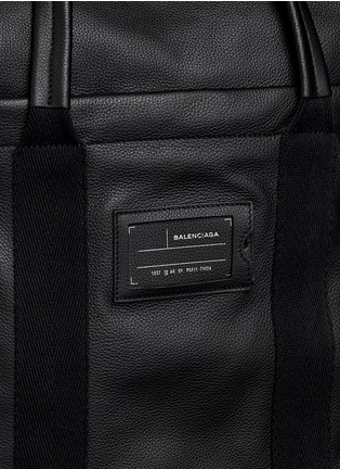 Detail View - Click To Enlarge - Balenciaga - Foldable zip top North South leather tote