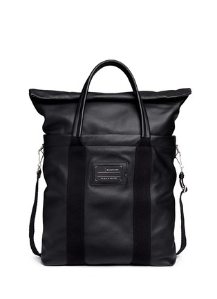 Main View - Click To Enlarge - Balenciaga - Foldable zip top North South leather tote