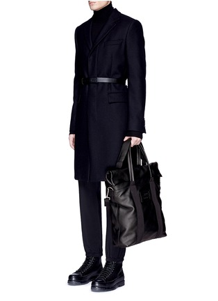 Figure View - Click To Enlarge - Balenciaga - Foldable zip top North South leather tote
