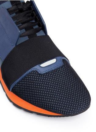 Detail View - Click To Enlarge - Balenciaga - Colourblock mix neoprene sneakers