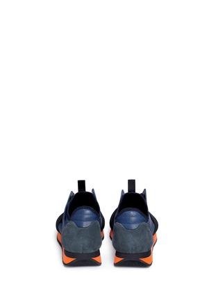 Back View - Click To Enlarge - Balenciaga - Colourblock mix neoprene sneakers