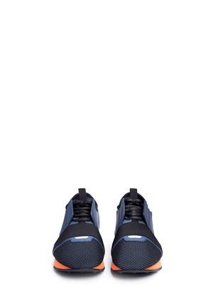 Front View - Click To Enlarge - Balenciaga - Colourblock mix neoprene sneakers