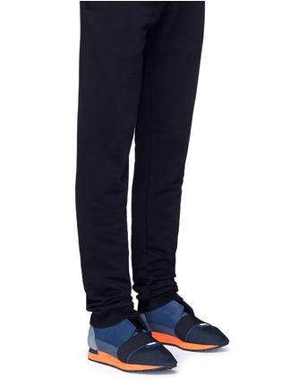 Figure View - Click To Enlarge - Balenciaga - Colourblock mix neoprene sneakers