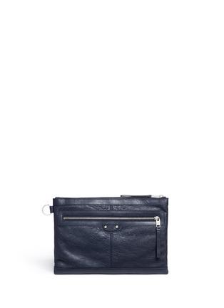 Main View - Click To Enlarge - Balenciaga - 'Clip' medium matte leather zip pouch