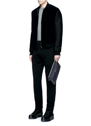 Figure View - Click To Enlarge - Balenciaga - 'Clip' medium matte leather zip pouch