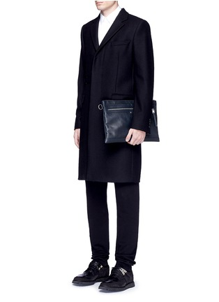 Figure View - Click To Enlarge - Balenciaga - 'Clip' large matte leather zip pouch