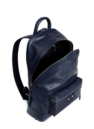Detail View - Click To Enlarge - Balenciaga - Matte lambskin leather backpack