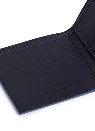 Detail View - Click To Enlarge - Balenciaga - Perforated logo leather bifold wallet