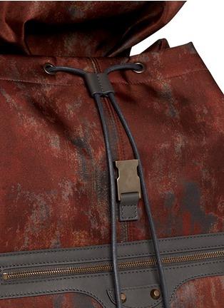 Detail View - Click To Enlarge - Balenciaga - 'Traveller' corrosion-effect print nylon backpack