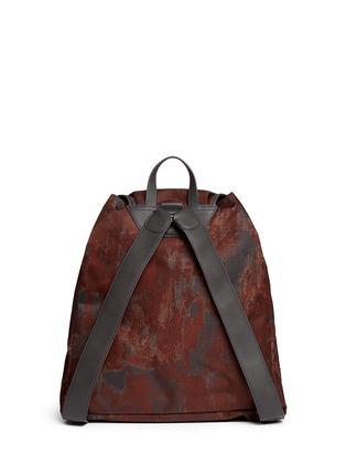 Back View - Click To Enlarge - Balenciaga - 'Traveller' corrosion-effect print nylon backpack