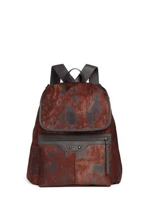 Main View - Click To Enlarge - Balenciaga - 'Traveller' corrosion-effect print nylon backpack