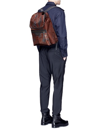 Figure View - Click To Enlarge - Balenciaga - 'Traveller' corrosion-effect print nylon backpack
