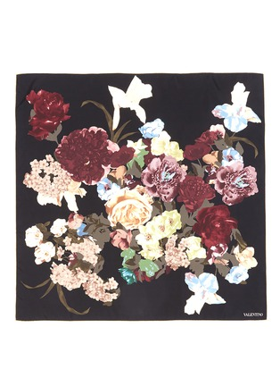 Main View - Click To Enlarge - VALENTINO - Origami floral print silk twill scarf