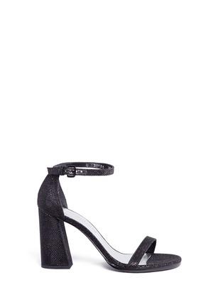 Main View - Click To Enlarge - STUART WEITZMAN - 'Walk Way' glitter mesh sandals
