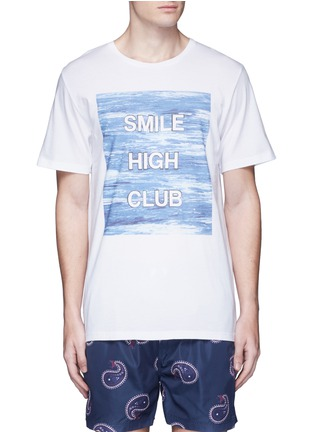 Main View - Click To Enlarge - Insted We Smile - 'Smile High Club' print T-shirt
