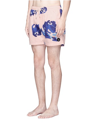Figure View - Click To Enlarge - INSTED WE SMILE - 'Pettibon' digital print swim shorts