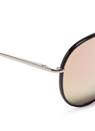 Detail View - Click To Enlarge - Matthew Williamson - Coated rim metal aviator mirror sunglasses