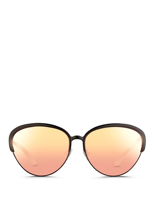 Main View - Click To Enlarge - Matthew Williamson - Wire rim cat eye mirror sunglasses