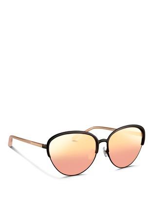 Figure View - Click To Enlarge - Matthew Williamson - Wire rim cat eye mirror sunglasses