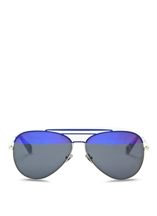 Main View - Click To Enlarge - Haze - 'Raze' coated metal aviator sunglasses