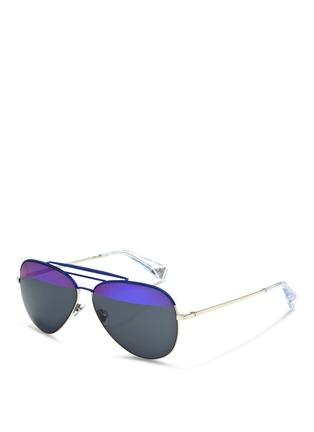 Figure View - Click To Enlarge - Haze - 'Raze' coated metal aviator sunglasses