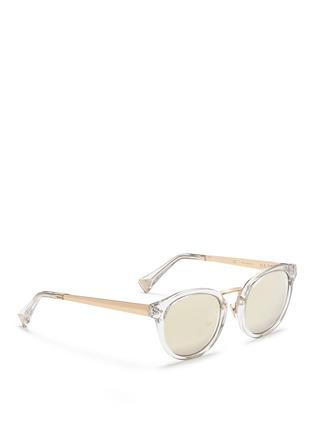 Figure View - Click To Enlarge - Haze - 'Edge' contrast temple mirror sunglasses