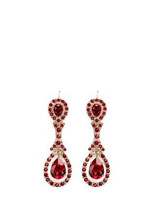 Main View - Click To Enlarge - Givenchy - Oval Swarovski crystal drop earrings