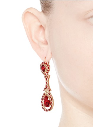 Figure View - Click To Enlarge - Givenchy - Oval Swarovski crystal drop earrings