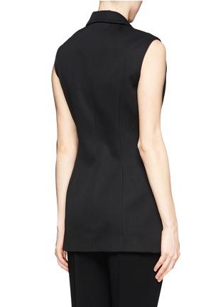 Back View - Click To Enlarge - ALEXANDERWANG - Long sleeveless blazer