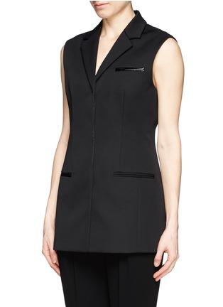 Front View - Click To Enlarge - ALEXANDERWANG - Long sleeveless blazer