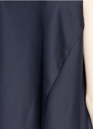 Detail View - Click To Enlarge - THE ROW - 'Vedon' silk faille tabard long sleeveless top