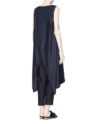 Back View - Click To Enlarge - THE ROW - 'Vedon' silk faille tabard long sleeveless top