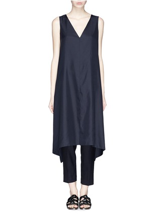 Main View - Click To Enlarge - THE ROW - 'Vedon' silk faille tabard long sleeveless top