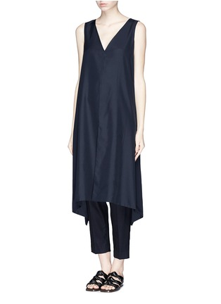 Figure View - Click To Enlarge - THE ROW - 'Vedon' silk faille tabard long sleeveless top