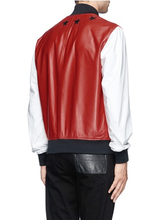 Back View - Click To Enlarge - Givenchy Beauty - Star leather bomber jacket