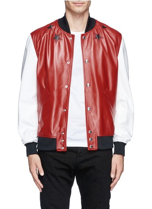 Main View - Click To Enlarge - Givenchy Beauty - Star leather bomber jacket