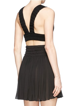 Back View - Click To Enlarge - AZZEDINE ALAÏA - Shirred cropped top